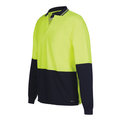 Picture of JBs Hi Vis L/S Non Button Polo
