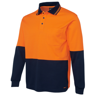 Picture of JBs Hi Vis L/S Cotton Back Polo