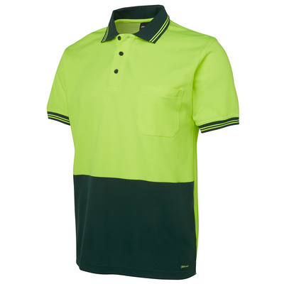 Picture of JBs Hi Vis S/S Cotton Back Polo