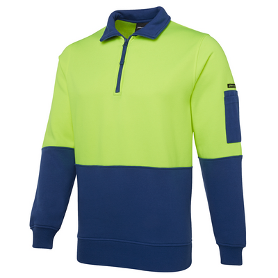 Picture of JBs Hi Vis 1/2 Zip Fleecy Sweat