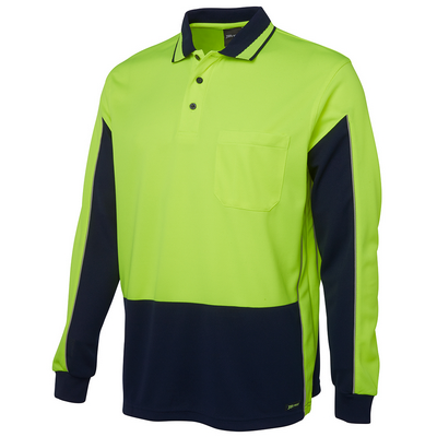 Picture of JBs Hi Vis L/S Gap Polo