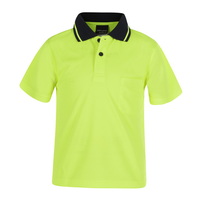 Picture of JBs Kids Hi Vis Non Cuff Traditional Polo