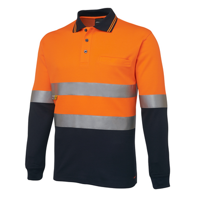Picture of JBs Hi Vis L/S (D+N) Trad Polo