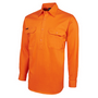 JBs Hi Vis L/S 190G Front Close Shirt