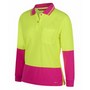 JBs Ladies Hi Vis L/S Comfort Polo