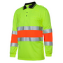 JBs Hi Vis Bio Motion (D+N) L/S Polo With 3M Tape