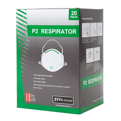 Picture of JBs P2  Respirator (20Pc)