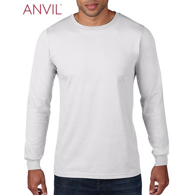Picture of Anvil Adult Lightweight Long Sleeve Tee White