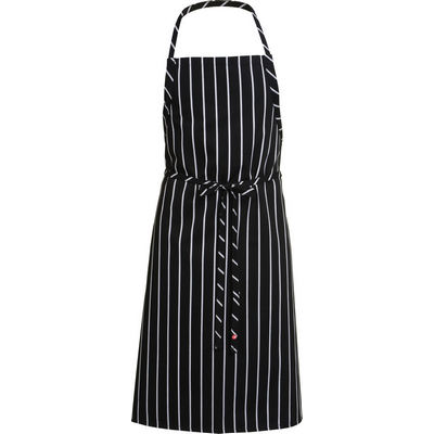 Picture of Black Chalkstripe Adjustable Chefs Apron