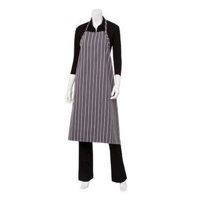 Picture of Grey Chalkstripe Adjustable Chefs Apron