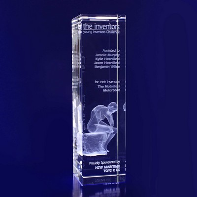 Picture of 3D Crystal Bar award / trophy