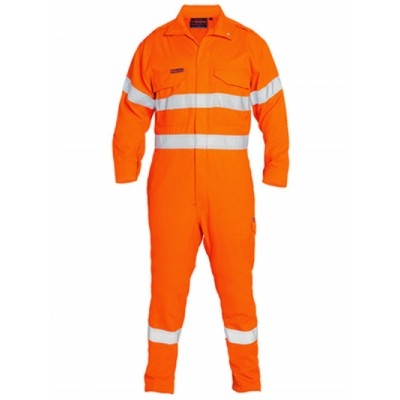 Picture of Tencate Tecasafe Plus Taped Hi Vis Engineered Fr Vented Coverall
