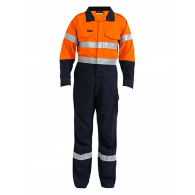Picture of Tencate Tecasafe Plus Taped Two Tone Hi Vis Engineered Fr Vented Coverall