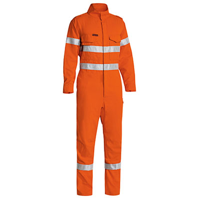 Picture of Tencate Tecasafe Plus Taped Hi Vis Lightweight Fr Non Vented Engineered Coverall