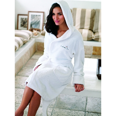 Picture of Coral Fleece Bath robe with hood