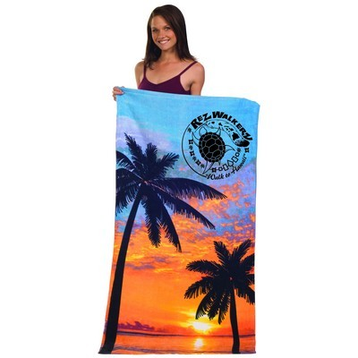 Picture of Stock Fibre Reactive Print Beach Towel