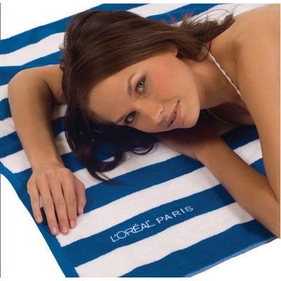 Picture of Cabana Striped Loop Terry Beach Towel