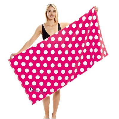 Picture of Polka Dot Terry Velour Beach Towel