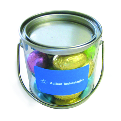 Picture of Small Bucket Filled With Mini Easter Eggs x16, 130G
