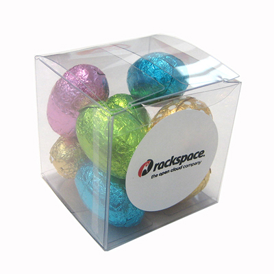 Picture of Cube FIilled With Mini Easter Eggs X9 Eggs, 70G