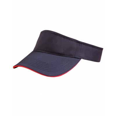 Picture of Polo Twill Visor With Or Without Sandwich, Crossover Velcro