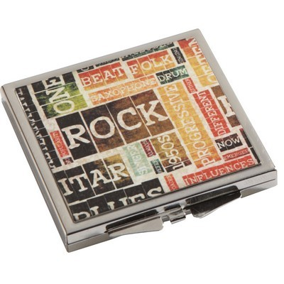 Picture of Square Metal Compact Mirror