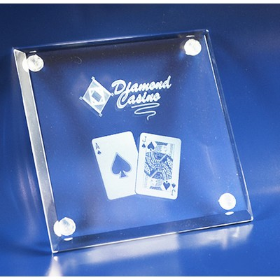 Picture of 3D Crystal glass drink coaster