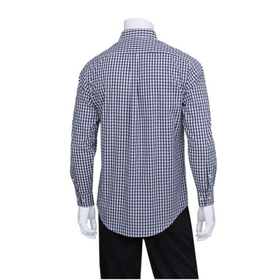 Picture of Gingham Men's Navy Dress Shirt