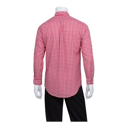 Picture of Gingham Men's Red Dress Shirt