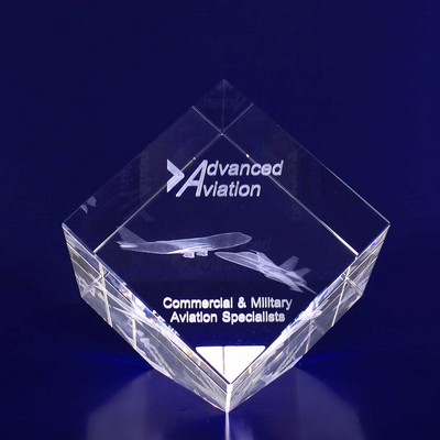 Picture of 3D Crystal Diamond award / trophy