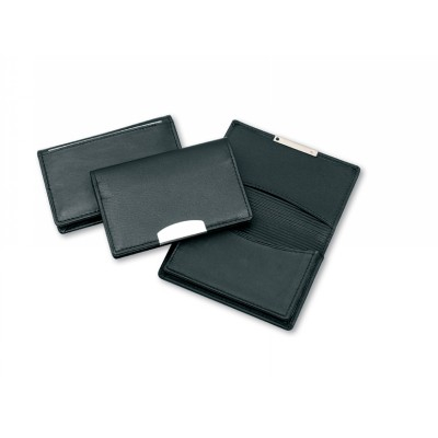 Picture of Premium Leather Card Holder with Silver Trim