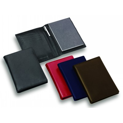 Picture of Premium Dark Blue Leather Pocket Notebook with Pen