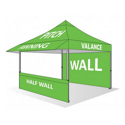 Picture of SUBLIMATION CANOPY PRINT (Polyester, UV & Water Resistant) 2.4m x 2.4m