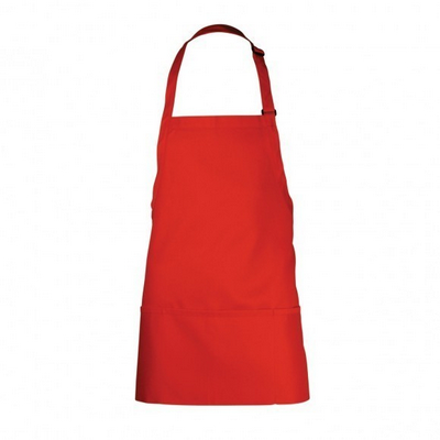 Picture of Three Pocket Red Bib Apron