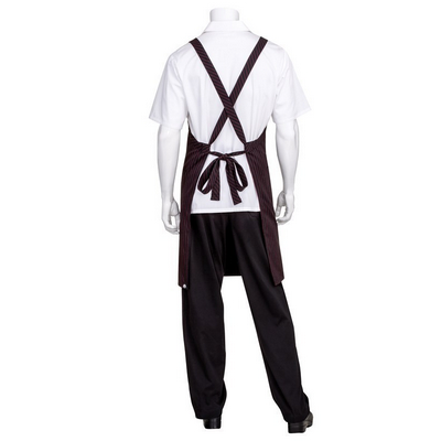 Picture of Black with Red Pinstripe Crossover Apron