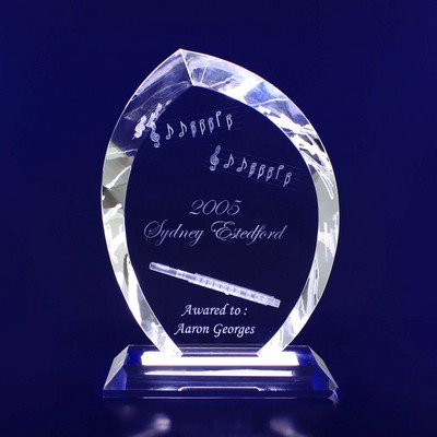 Picture of 3D Crystal Flame Trophy / Award