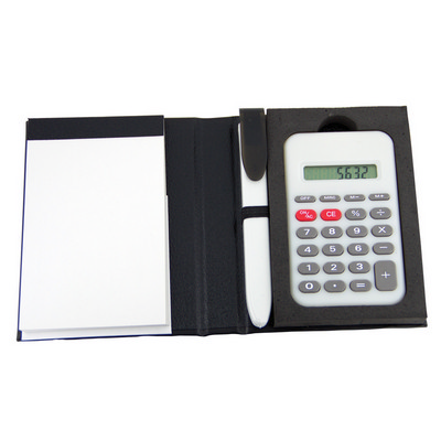 Picture of Notepad with pen & calculator