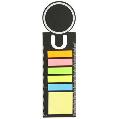 Picture of Bookmark ruler with sticky notes