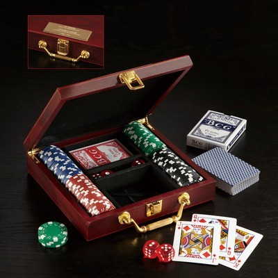 Picture of Wooden Box Poker Set