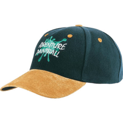 Picture of 6 Panel Wool Blend Cap With Suede Peak