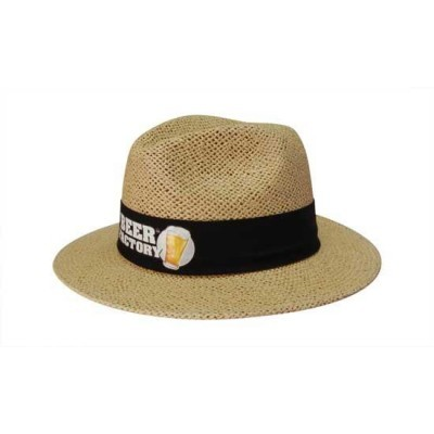 Picture of Paper Straw hat with material under the brim