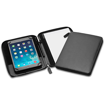 Picture of Deluxe Uni-fit Mini Tablet Zip A5 Compendium with Adjustable Display Stand