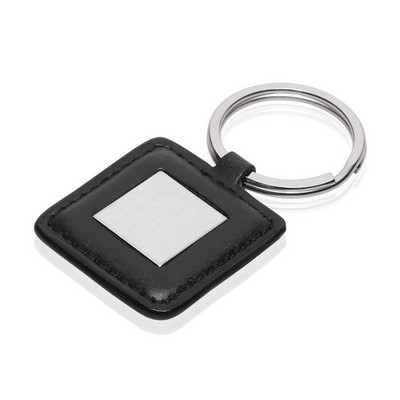 Picture of Leather-Look / Metal Square Keyring