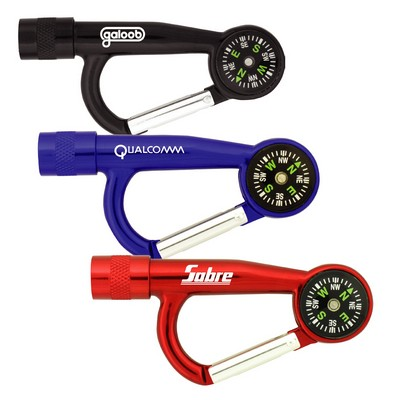 Picture of Flashlight Carabiners with Compass