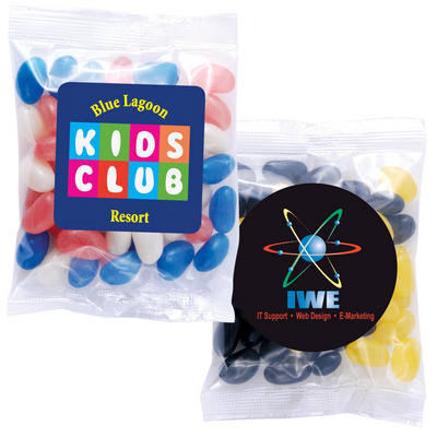 Picture of Corporate Colour Mini Jelly Beans in 50 Gram Cello Bag