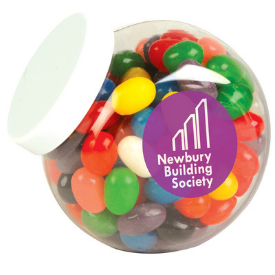 Picture of Assorted Colour Mini Jelly Beans in Container