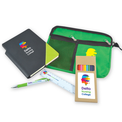 Picture of Back To School Kit - Malibu Pouch, Argos Notebook, Virgo Pen, Ruler, Pencils