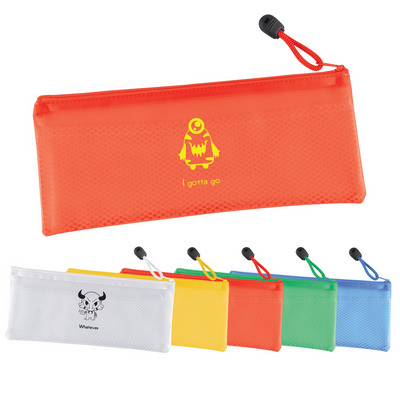Picture of PVC Pencil Case/Organiser with Zipper and Mesh Divider
