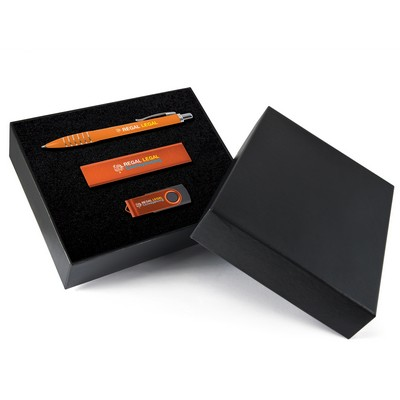 Picture of Superior Gift Set - Titan Pen, Velocity Power Bank, Swivel Flash Drive