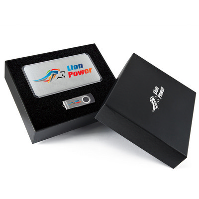 Picture of Superior  Gift Set - Matrix Power Bank and Swivel Flash Drive